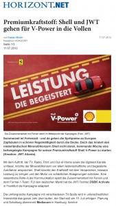 Premiumkraftstoff: Shell und JWT gehen fŸr V-Power in die Vollen